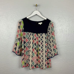 Umgee Size S Triangle Blouse